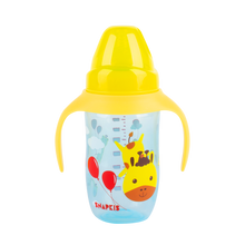 Load image into Gallery viewer, [Snapkis] Anti-Colic Training Cup Set (240ml) - Giraffe - Not Too Big