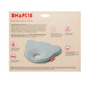[Snapkis] Bebe Bear Mesh Baby Pillow - Not Too Big