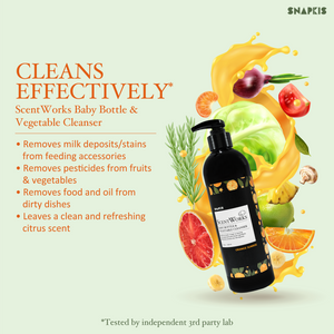 [Snapkis] Scentworks Baby Bottle and Vegetable Cleanser (Orange Sunrise) - Bottle/Refill