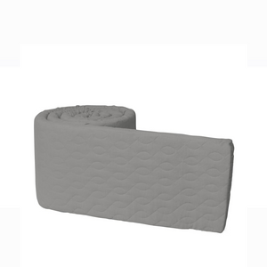 [Sebra] Baby Bumper - Not Too Big (Quilted Grey)