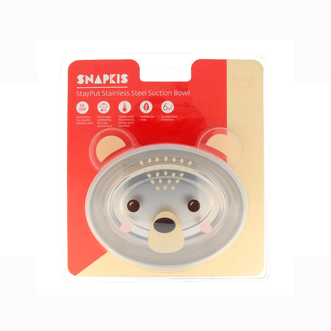 [Snapkis] Stayput Stainless Steel Suction Bowl - Not Too Big
