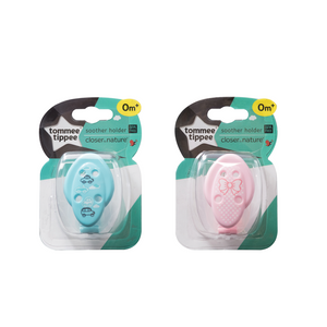 [Tommee Tippee] Closer to Nature Soother Holder - Not Too Big (Pink and Blue for baby 0 months and above)