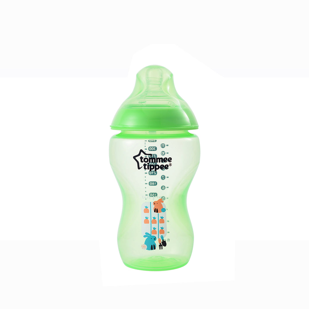 [Tommee Tippee] Closer to Nature Tinted Bottle 340ML - Not Too Big (Green)