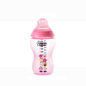 [Tommee Tippee] Closer to Nature Tinted Bottle 340ML - Not Too Big (Pink)