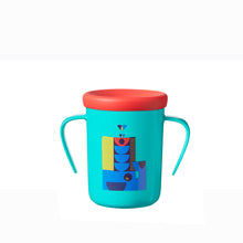 Load image into Gallery viewer, [Tommee Tippee] 360 Cup Deco - Not Too Big (Blue Trainer Cup with Lid)