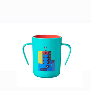 [Tommee Tippee] 360 Cup Deco - Not Too Big (Blue Trainer Cup)