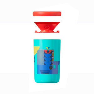 [Tommee Tippee] 360 Cup Deco - Not Too Big (Blue Tumbler with Lid)