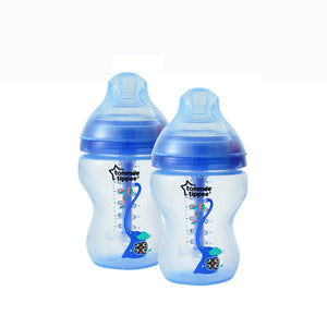 [Tommee Tippee] Closer to Nature Deco Advanced Anti-Colic Bottle - Not Too Big (Blue Twin Set)