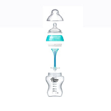 Load image into Gallery viewer, [Tommee Tippee] Closer to Nature Anti-Colic Plus Bottle (260ml/9oz) - Not Too Big (Blue with Contents)