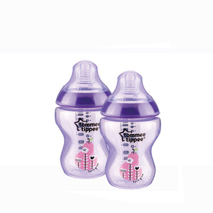 [Tommee Tippee] Closer to Nature Tinted Bottle Twin Pack - Not Too Big (Purple)