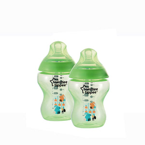 [Tommee Tippee] Closer to Nature Tinted Bottle Twin Pack - Not Too Big (Green)