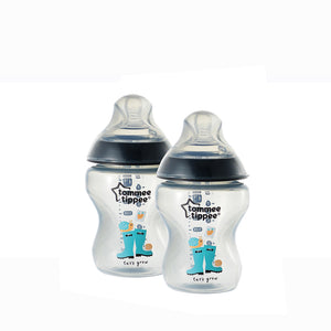[Tommee Tippee] Closer to Nature Tinted Bottle Twin Pack - Not Too Big (Black)