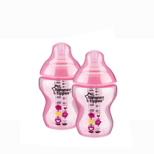 Load image into Gallery viewer, [Tommee Tippee] Closer to Nature Tinted Bottle Twin Pack - Not Too Big (Pink)