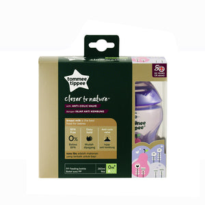 [Tommee Tippee] Closer to Nature Tinted Bottle Twin Pack - Not Too Big (Purple Packaging)