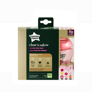 [Tommee Tippee] Closer to Nature Tinted Bottle Twin Pack - Not Too Big (Pink Packaging)