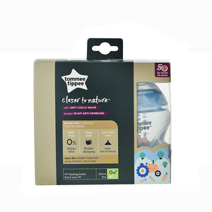[Tommee Tippee] Closer to Nature Tinted Bottle Twin Pack - Not Too Big (Blue Packaging)