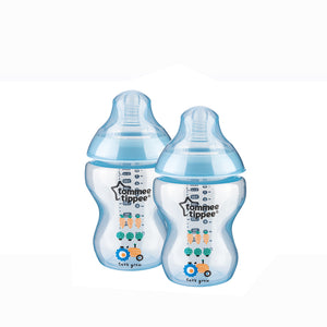 [Tommee Tippee] Closer to Nature Tinted Bottle Twin Pack - Not Too Big (Blue)