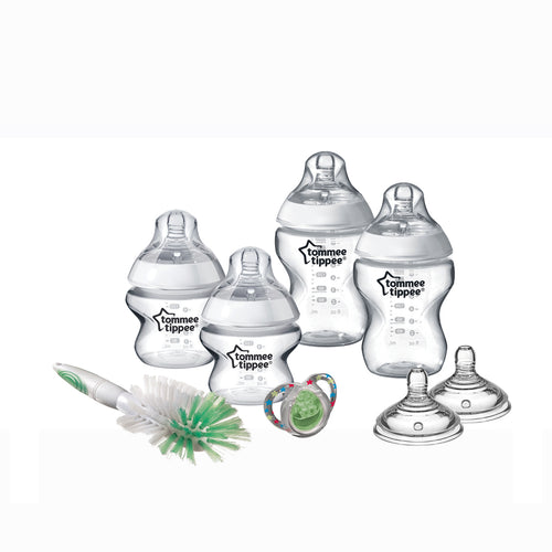 [Tommee Tippee] Closer to Nature Newborn Starter Kit Clear - Not Too Big