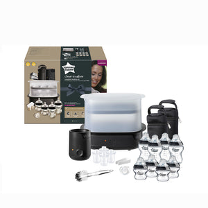[Tommee Tippee] Complete Feeding Set Black - The Clash - Not Too Big (Packaging and Content)