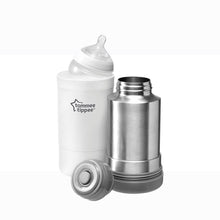 Load image into Gallery viewer, [Tommee Tippee] Closer to Nature Travel Warmer - Not Too Big (White) with Tommee Tippee Bottle