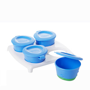 [Tommee Tippee] Explora 4 Pop-Up Freezer Pots - Not Too Big (Blue)