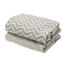 Load image into Gallery viewer, [Tutti Bambini] Cozee Fitted Sheets - Not Too Big (Grey/Chevron)
