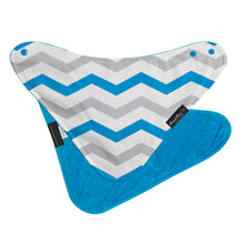 Load image into Gallery viewer, [Mum2Mum] Fashion Bandana - Not Too Big (Teal Grey Chevron)