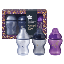 Load image into Gallery viewer, [Tommee Tippee] Closer to Nature Midnight Skies Bottle ( 3 x 260 ml)
