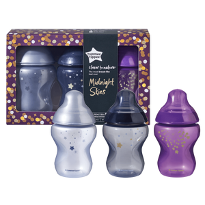 [Tommee Tippee] Closer to Nature Midnight Skies Bottle ( 3 x 260 ml)