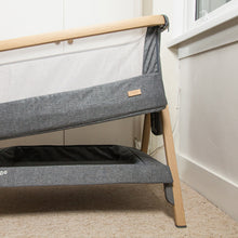 Load image into Gallery viewer, [Tutti Bambini] Cozee Bedside Crib Closeup with Height Adjusted - Not Too Big
