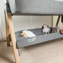 Load image into Gallery viewer, Oak/Charcoal [Tutti Bambini] Cozee Bedside Crib Bottom Compartment with toys - Not Too Big