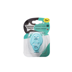 [Tommee Tippee] Closer to Nature Soother Holder - Not Too Big (Blue for baby 0 months and above)