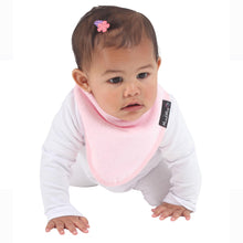 Load image into Gallery viewer, Baby wearing the Pink [Mum2Mum] Teething Bandana - Not Too Big