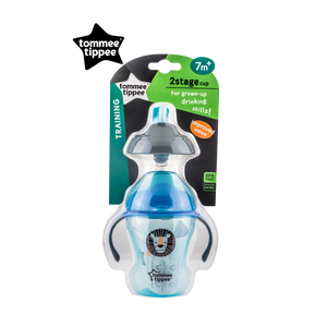 [Tommee Tippee] Explora 2-Stage Easy Drinking Cup - Not Too Big (Blue Packaging)
