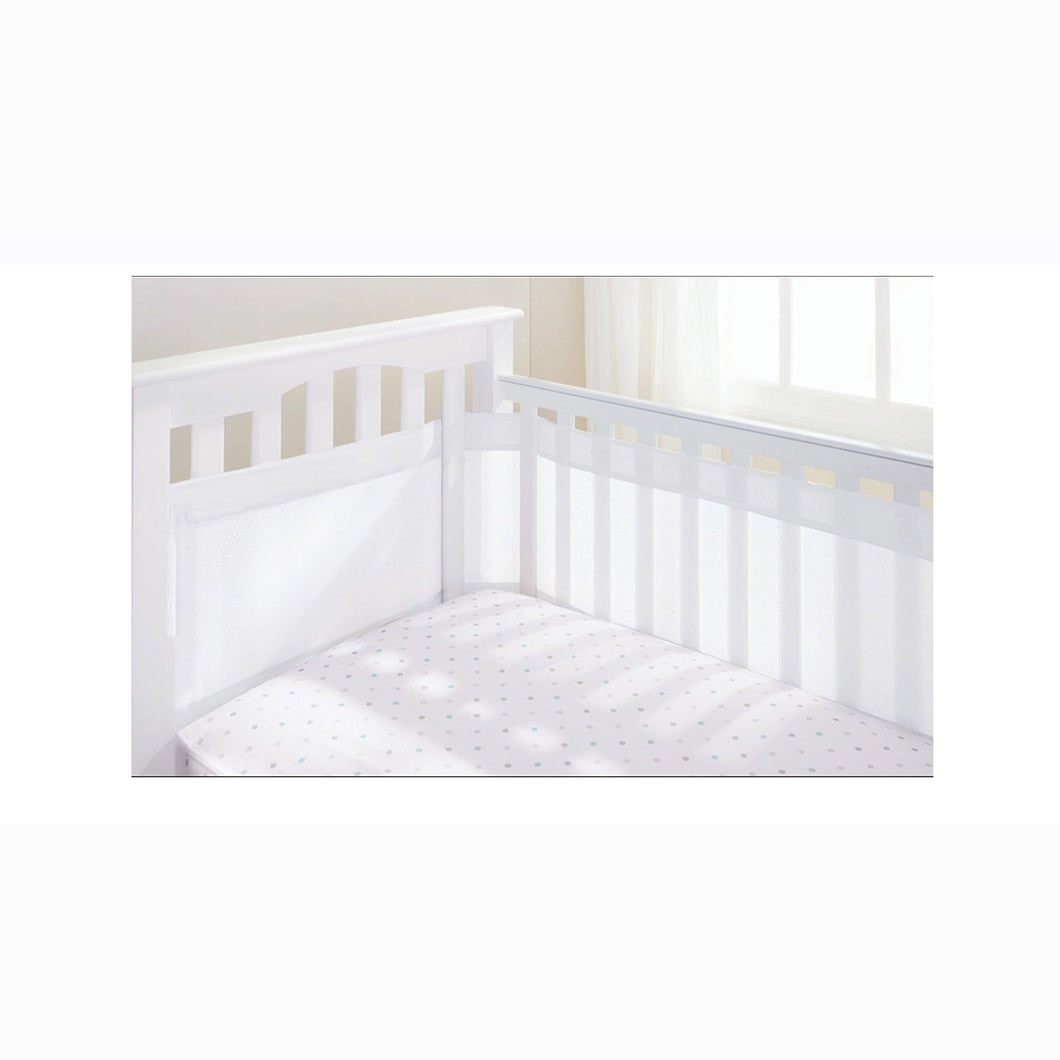 [Breathable Baby] Airflow Baby Cot Liner 35cm - White
