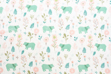 Load image into Gallery viewer, [Mimosa] Multi-Purpose Bamboo Muslin Swaddle - Not Too Big (Floral and Bear)