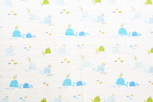 [Mimosa] Multi-Purpose Bamboo Muslin Swaddle - Not Too Big (Dolphin 2)