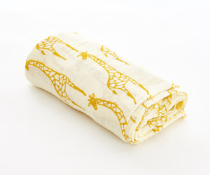 [Mimosa] Multi-Purpose Bamboo Muslin Swaddle - Not Too Big (Giraffe 2)