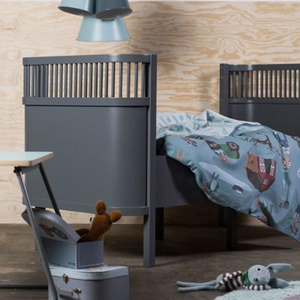 [Sebra] Sebra Bed, Baby & Jr - Not Too Big (Dark Grey) in a Nursery