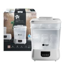 Load image into Gallery viewer, [Tommee Tippee] Electric Steriliser & Dryer White - Not Too Big (Packaging and Content)