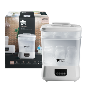 [Tommee Tippee] Electric Steriliser & Dryer White - Not Too Big (Packaging and Content)