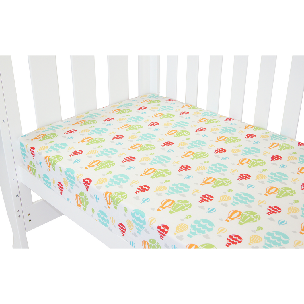 Babyhood colorful fitted sheet for baby cot