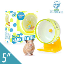 "Robo Hamster Wheel 5"" Pet Quiet Spinner Comfort Exercise Quiet Wheel and Easy Attach to Wire Cage for Small Pets 2 Oz Dwarf Hamsters Gerbils Hedgehogs Mice - Premium PP Material"