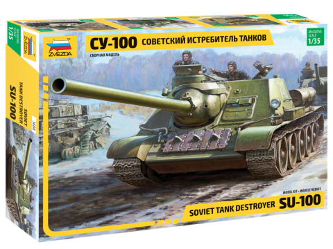 Soviet tank destroyer SU-100 1/35