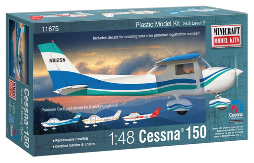 Cessna 150 w 3 marking options 1/48