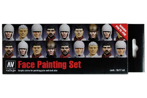 MODEL COLOR SET:FACES PAINTING SET (8)