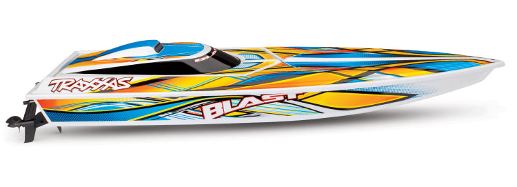 Traxxas Blast - High-Performance Electric Race Boat - Orange