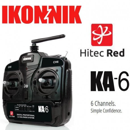 RED KA6 6-CHANNEL TRANSMITTER + RECEIVER (MODE 2) - Hobbyhjørna