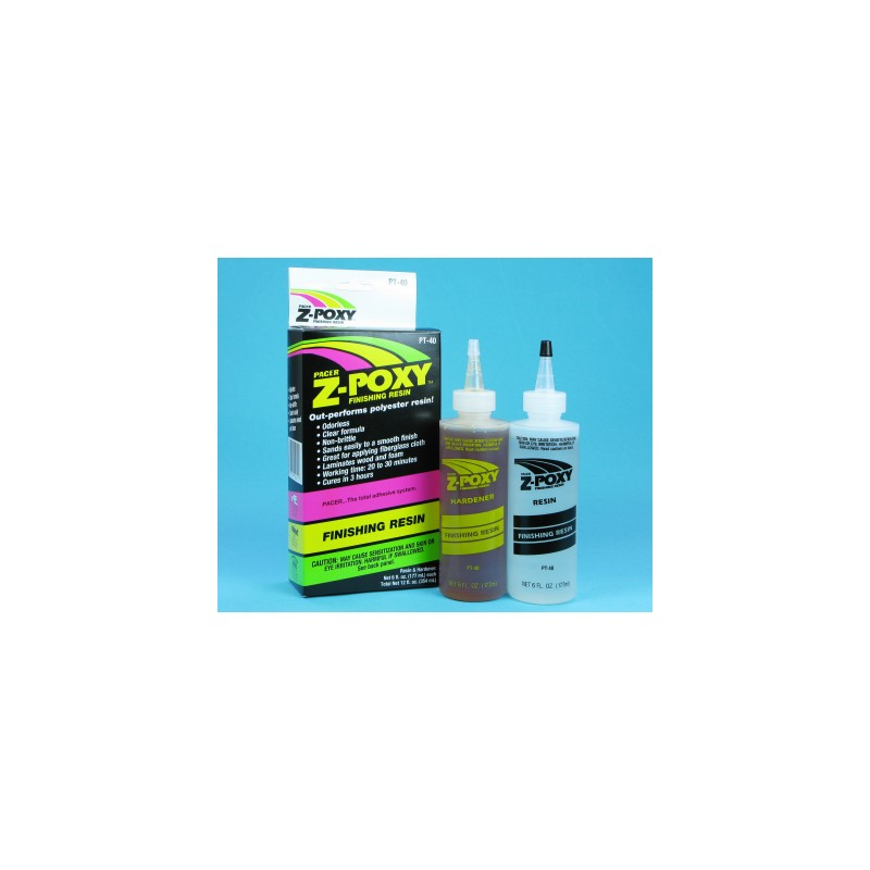 Z-POXY FINISHING RESIN 12OZ (6) PT40 - Hobbyhjørna