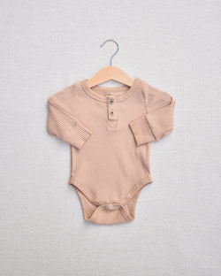 Mocha Long Sleeve Onesie (4294568706138)